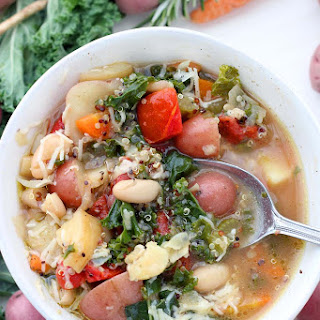 Winter Minestrone Soup with Root Vegetables and Quinoa (Instant Pot + Slow Cooker Optional) Recipe
