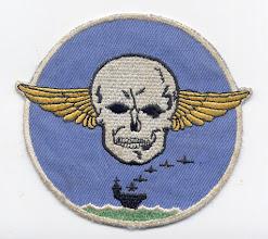 Photo: VBF-8. Squadron established 2 January 1945 and disestablished 23 Novemer 1945. Insignia aproved 15 MAy 1945. Doug Siegfried