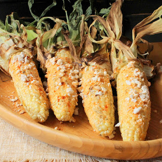 Grilled Corn on the Cob with Chili, Lime and Cotija Cheese