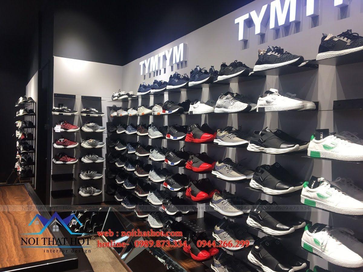 thi công shop giày nam 7