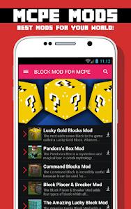 BLOCK MODS FOR MCPE screenshot 0