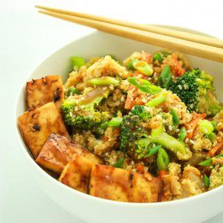 20 Minute Cauliflower Rice Stir Fry.