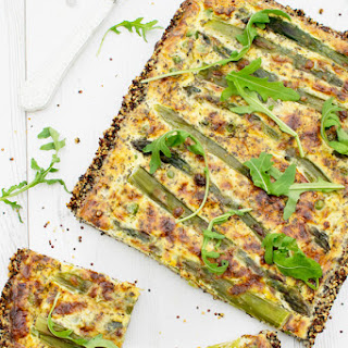 Asparagus & Pea Quiche with a Quinoa Crust [Vegetarian] [Gluten Free] Recipe