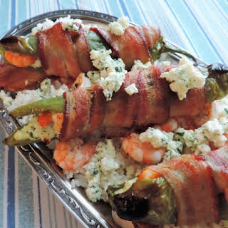 Bacon-Wrapped Shrimp-Stuffed Hatch Chiles.