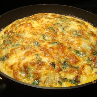 Spinach, Bacon and Gruyere Frittata.