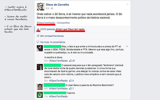 #OlavoTemRazão