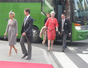Photo: Crown Prince Pavlos and Crown Princess Marie Chantal of Greece, Princess Alexandra zu Sayn-Wittgenstein-Berleburgand husband Count Jefferson of Pfeil and Klein-Ellguth