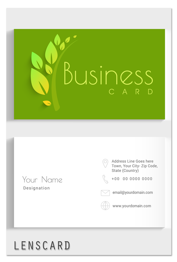 Lenscard -Business Card Maker - Android Apps on Google Play