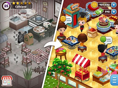 Cafeland – World Kitchen Mod Apk 2.1.88 (Unlimited Coins/Cash) 8