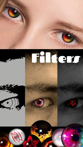Code Triche Sharingan - Eyes And Hair Color Changer APK Mod screenshots 1