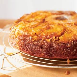 Pineapple-Coconut-Banana Upside-Down Cake.