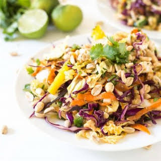 Rainbow Chopped Thai Chicken Salad.