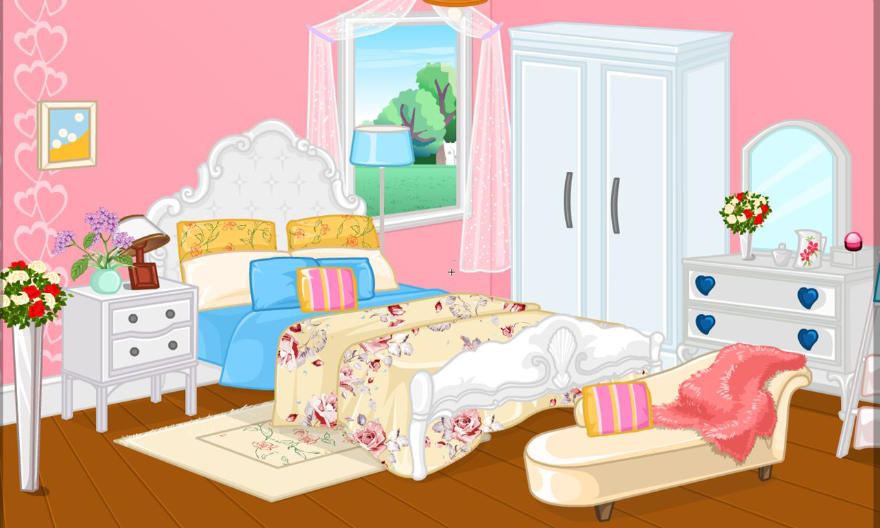 girly room decoration game screenshot - Girly Bedroom Design