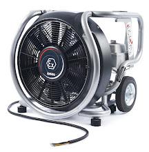 Photo: Ventilátor ESX 230 s ATEX certifikátem - čelní pohled.