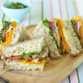 Vegetable Sandwiches with Cilantro Salsa