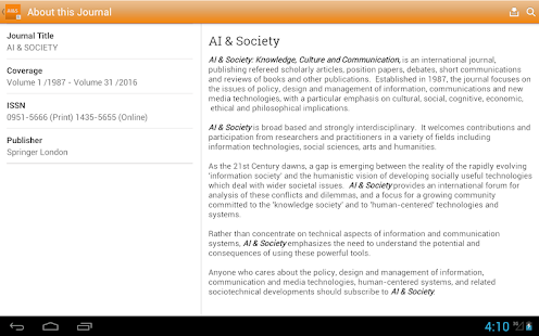 AI & Society- screenshot thumbnail