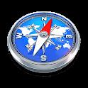 Compass, coordinates, flash icon