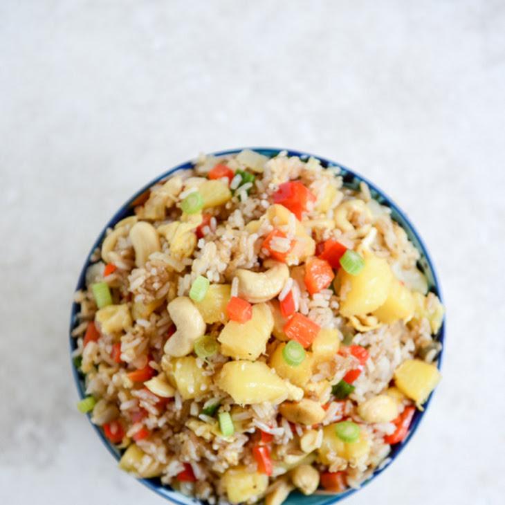 Pineapple Cashew Fried Rice Recipe