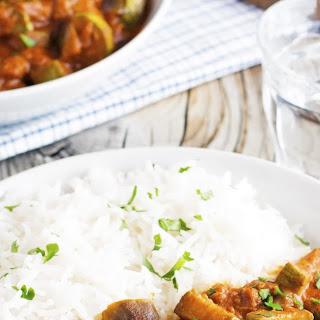 (Vegan) Creamy Crock-Pot Eggplant and Zucchini Curry Recipe