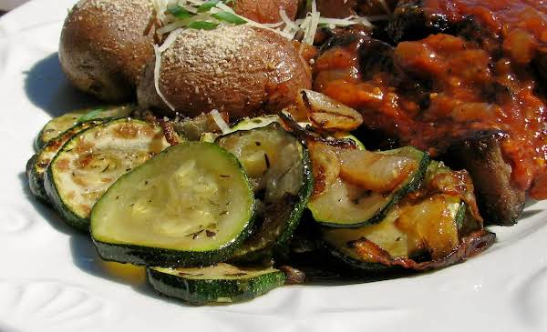Zucchini With Caramelized Onions