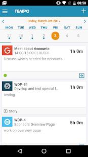 Tempo Mobile-JIRA Timetracking - náhled