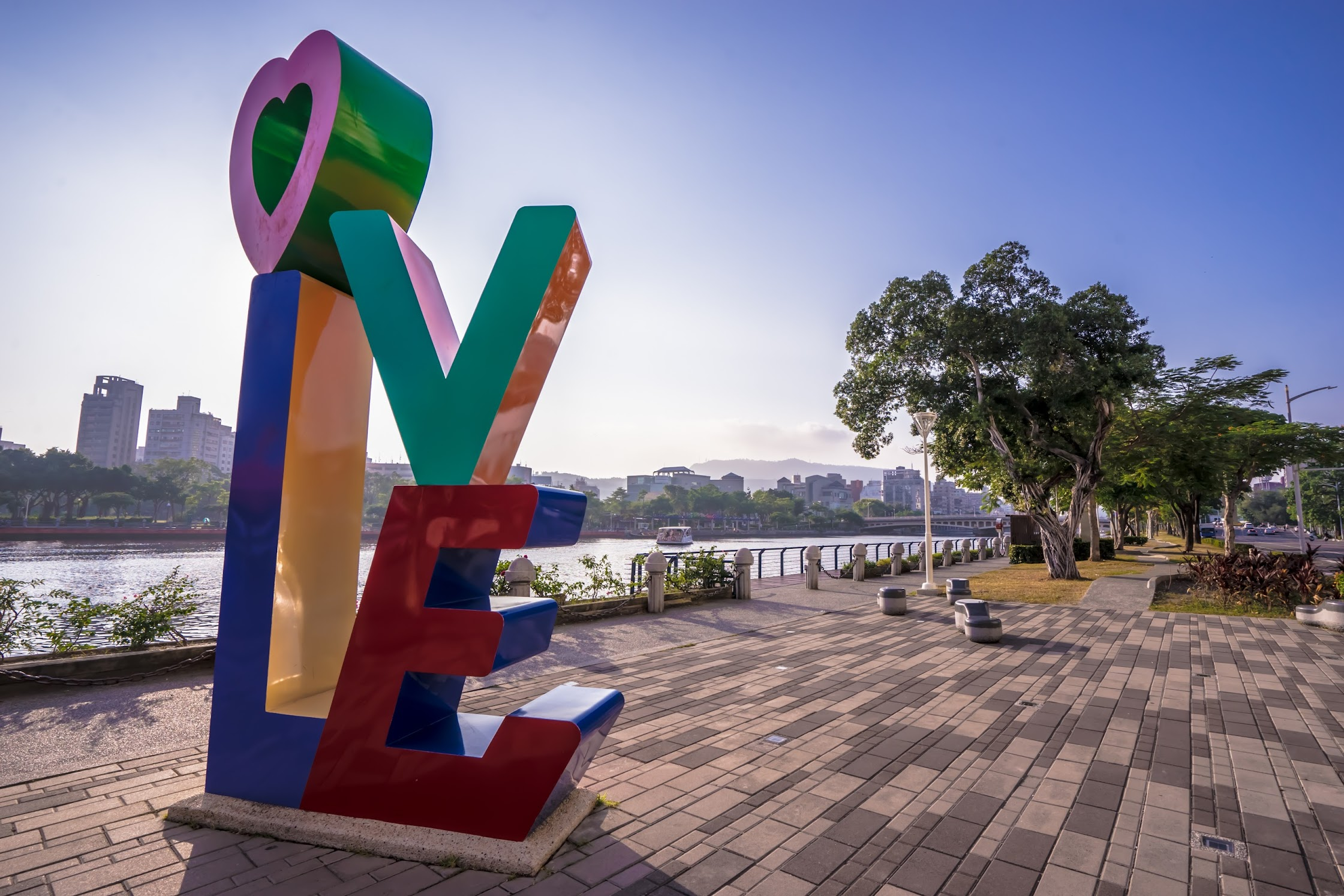 Taiwan Kaohsiung Love River LOVE