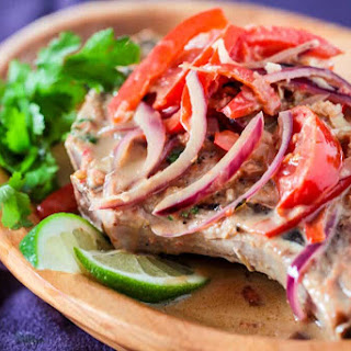 Thai Pork Chops with Ginger Coconut Sauce.