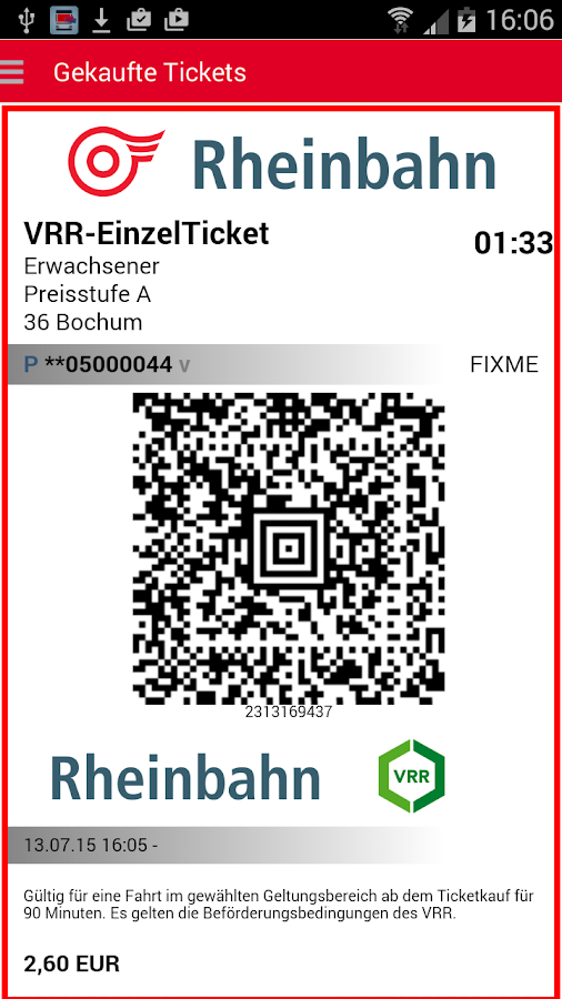 HandyTicket Deutschland- screenshot