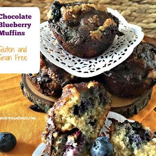 Chocolate Blueberry Muffins.