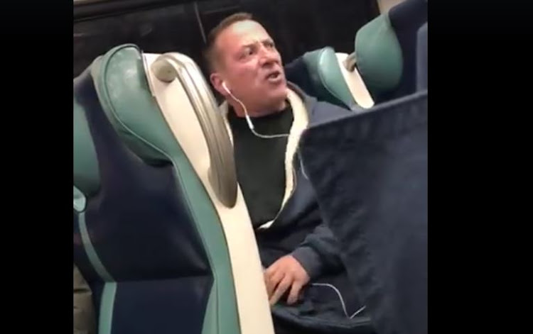 This man's 'racist' rant was caught on video.