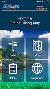 HYDRA Offline Hiking Map - náhled