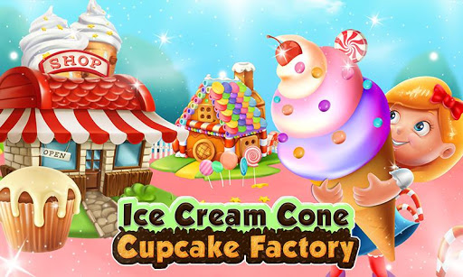 Ice Cream Cone Cupcake Factory: Candy Maker Games 1.0 screenshots 4