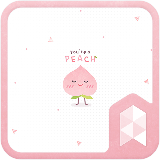Simple pattern pink cute peach Launcher theme