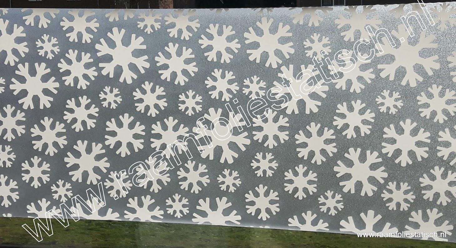 Statische raamfolie sneeuwvlokken