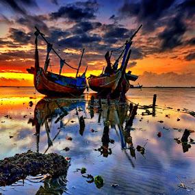 Long Time by Hendri Suhandi - Landscapes Sunsets & Sunrises ( sunset, sunrise )