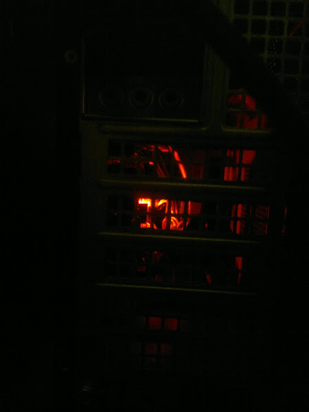 Photo: PC... Glowing red