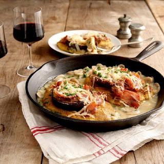 Chicken and Prosciutto Sorrentino with Mushroom Sauce.