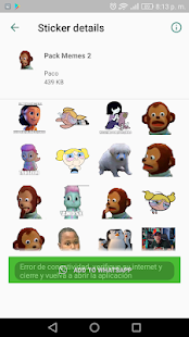 App WAStickerApps Memes Momazos Megapack para whatssp APK for Windows Phone