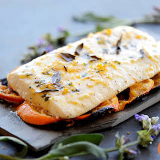 Grilled Citrus Herb Halibut.