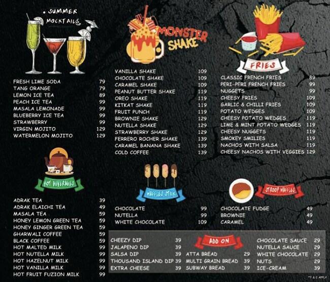 Cafe Munchin Knights menu 1