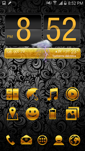 ICON PACK GOLD THEME LAUNCHER