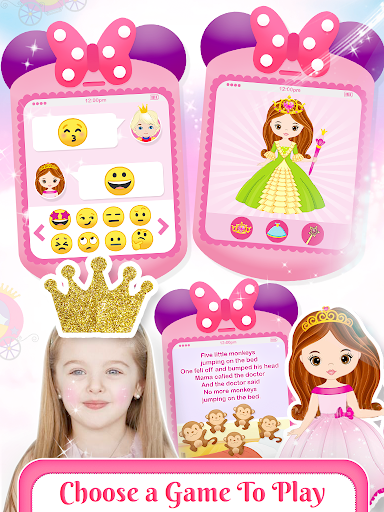 Pink Little Talking Princess Baby Phone Kids Game screenshot 5