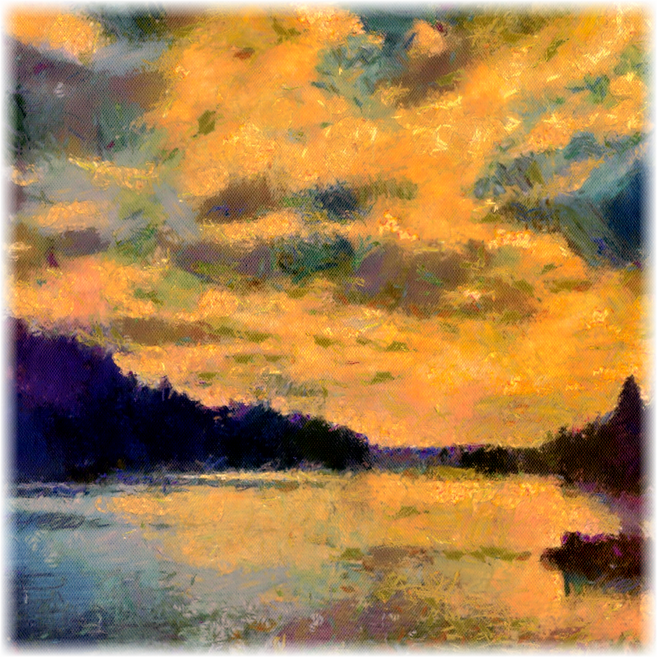 Photo: Sunset over Lake Oswego Here is a little #iPaintography  painting of Lake Oswego for #ThirstyThursdayPics  +Giuseppe Basile +Mark Esguerra. Apps: Camera+, PicFX, Phototoaster, Autopainter3 (Monet and d'Orcia filters), Image Blender, and Photogene 2. +Mobilart Club +Jacob Dix +Paul Brown +abhishek chamaria +Alexius Jørgensen  +Breakfast Club  #BreakfastClub  +Gemma Costa +Andrea Martinez  #iPhoneography   #iPaintography
