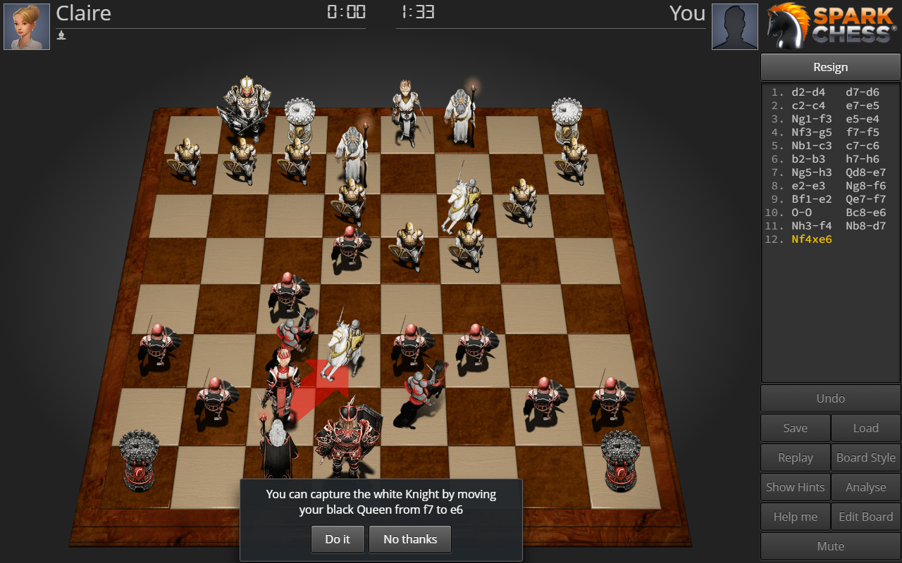SparkChess HD Lite- screenshot