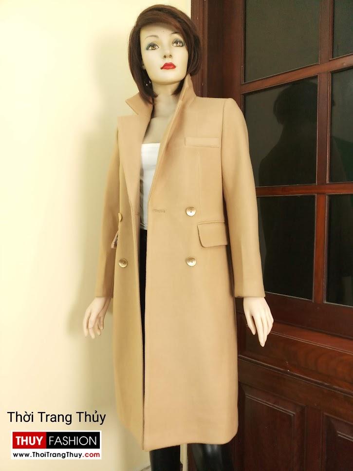 Áo khoác dạ nữ dáng dài màu lạc đà V665 tại Huế