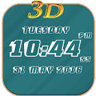 3D Digital Clock LWP Free icon