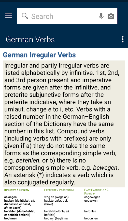 Concise Oxford German Dict. TR- screenshot