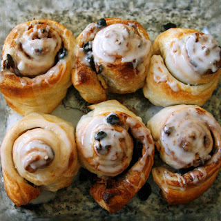 Easy Puff Pastry Cinnamon Roll.
