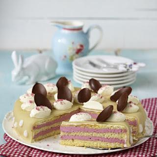 Raspberry Easter Cake