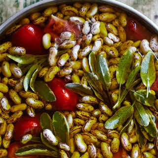 Borlotti Beans with Garlic and Olive Oil.